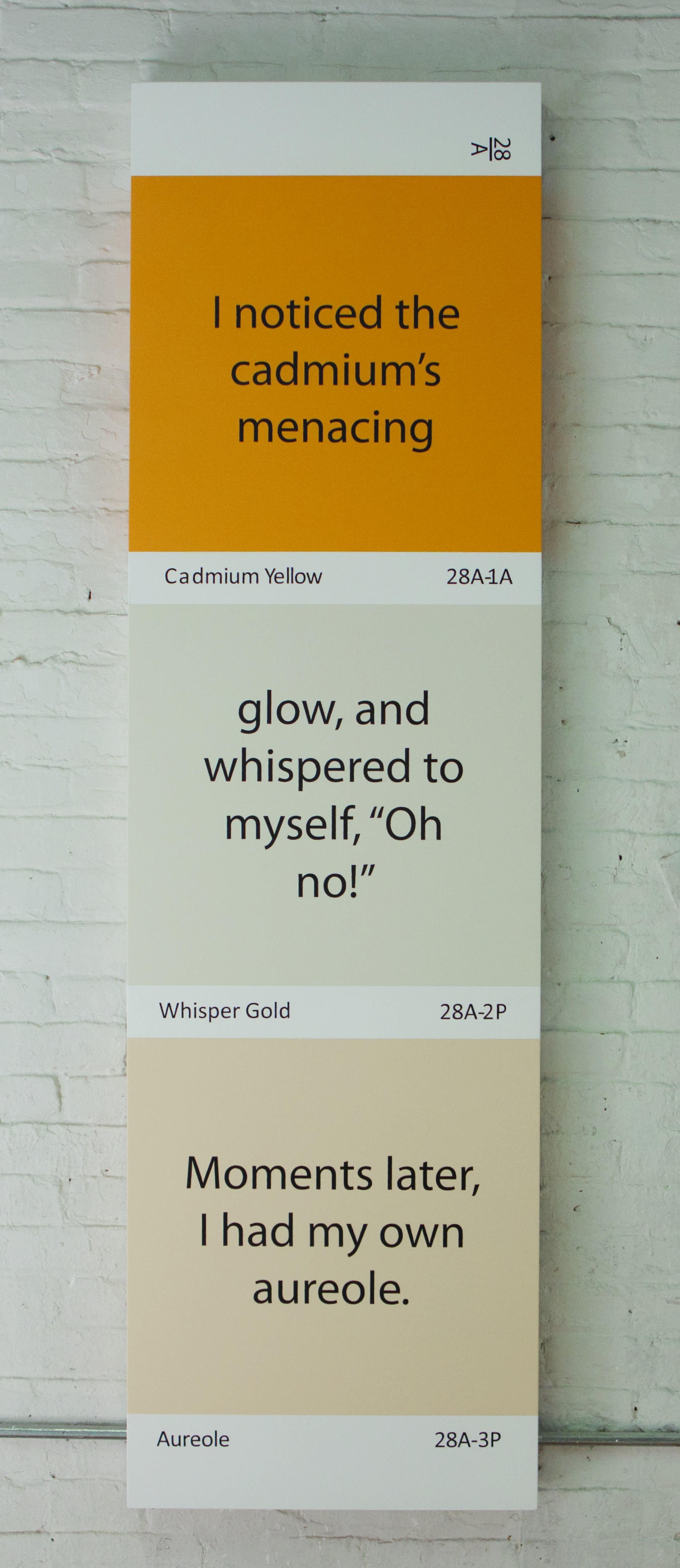 Cadmium Yellow, Whisper Gold, Aureole