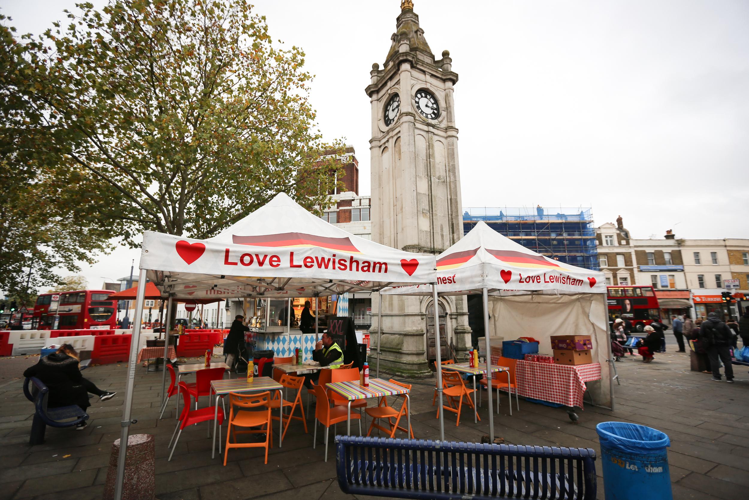 Love Lewisham food stand from Lewisham High Street