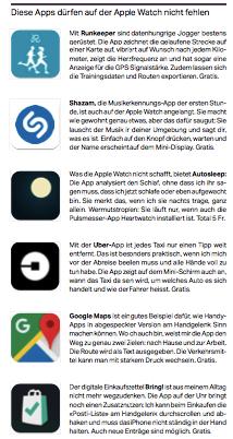 Die Apps, die auf keiner Apple Watch fehlen dürfen.     SonntagsZeitung, 15.1.2017