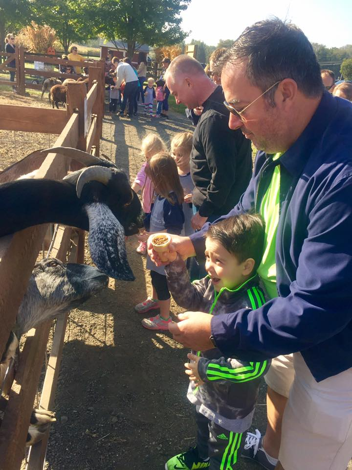 Making Friends - Our 4-legged friends LOVE meeting the children and can't wait for their YUMMY treat!