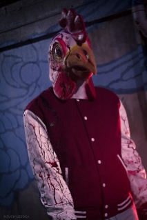 It's just your regular 'boy meets girl while he's wearing a chicken mask' kinda love story. <3