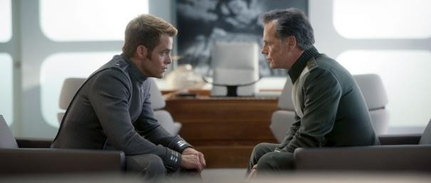 Kirk: So...you're my new father figure, right?  Pike: I'm stern, I discipline you, but I still believe in you no matter what. Wanna play catch after the big meeting we have?  Kirk: Nothing could possibly ruin this relationship!