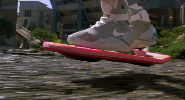 THE SHOES LACED THEMSELF! Oh, and the skateboard is hovering above the ground....WHAAAAAAAAAAAAAAAAAAT????