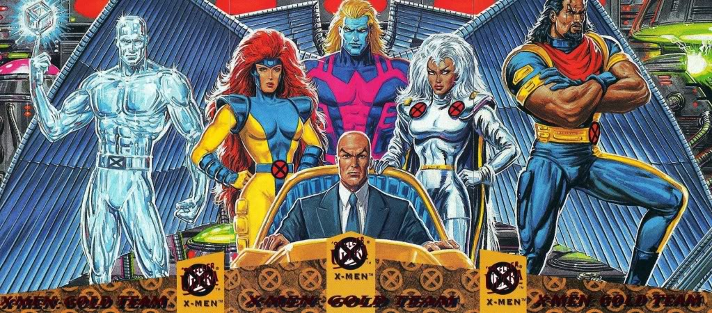 I wanted to talk about the Gold Team, but I'm distracted by Archangel's amazing golden hair.