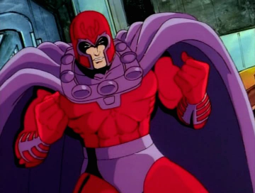 Red and purple is a bold choice...but he's a badass, so no one says anything.