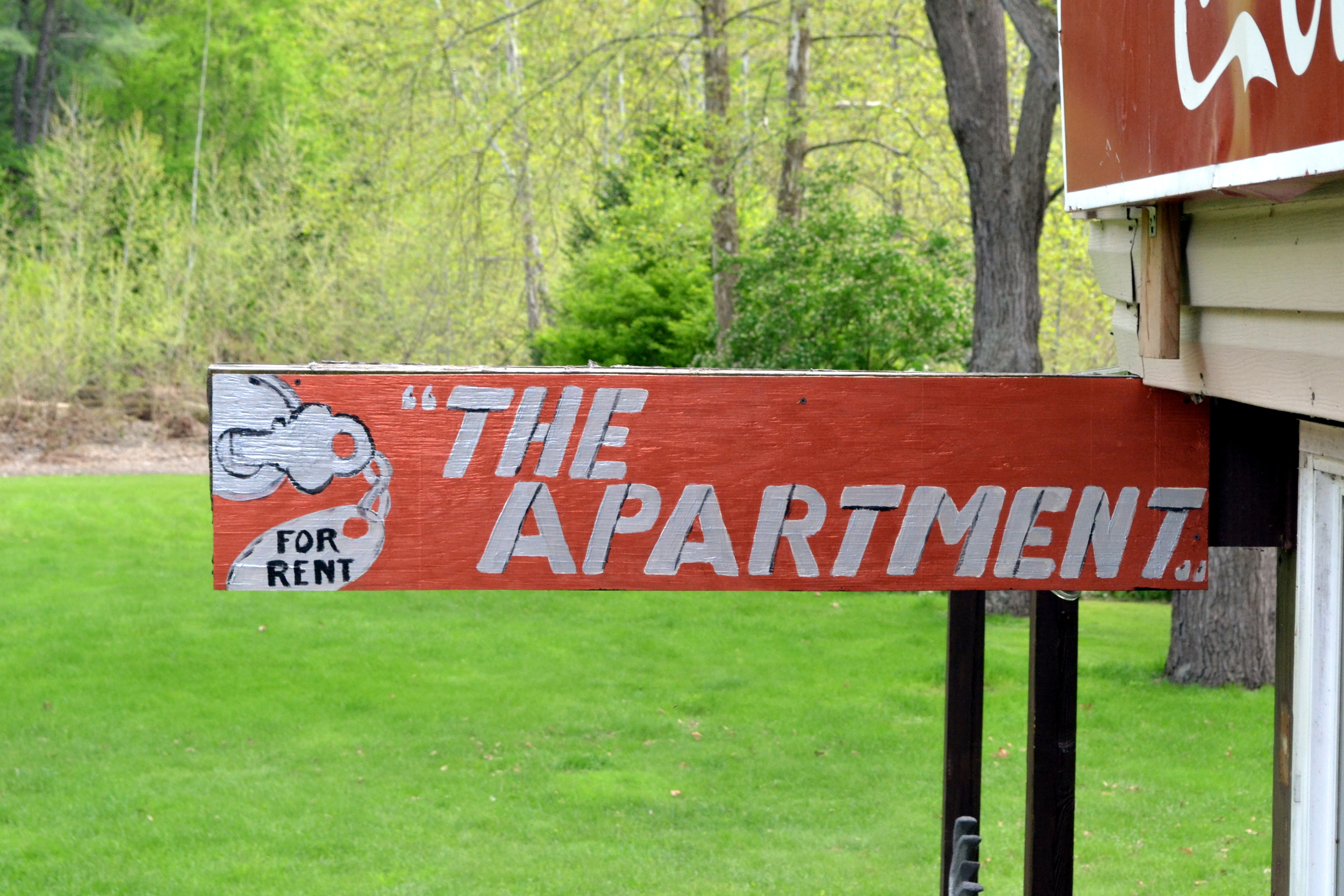 When on a long hike or bicycling trip if you need a place to rest for the night you can rent the apartment.