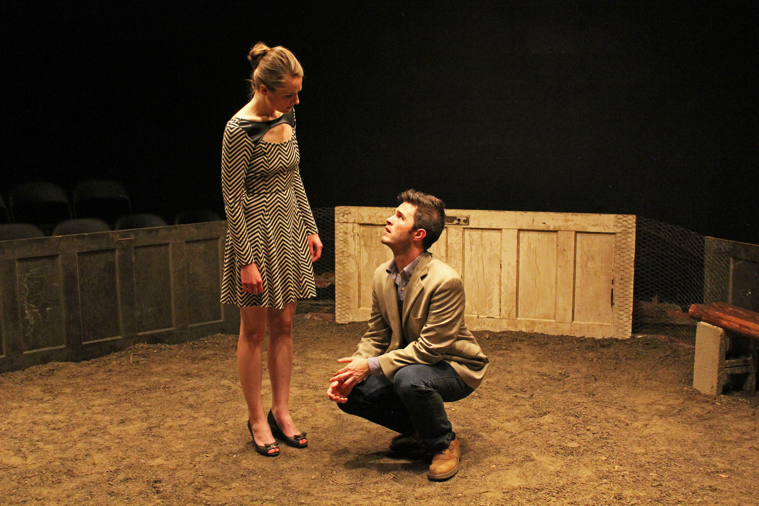 Deejay Gray with Liz Earnest; COCK, TheatreLAB - Best Ensemble Nomination, 2015 Richmond Theatre Critics Circle Awards
