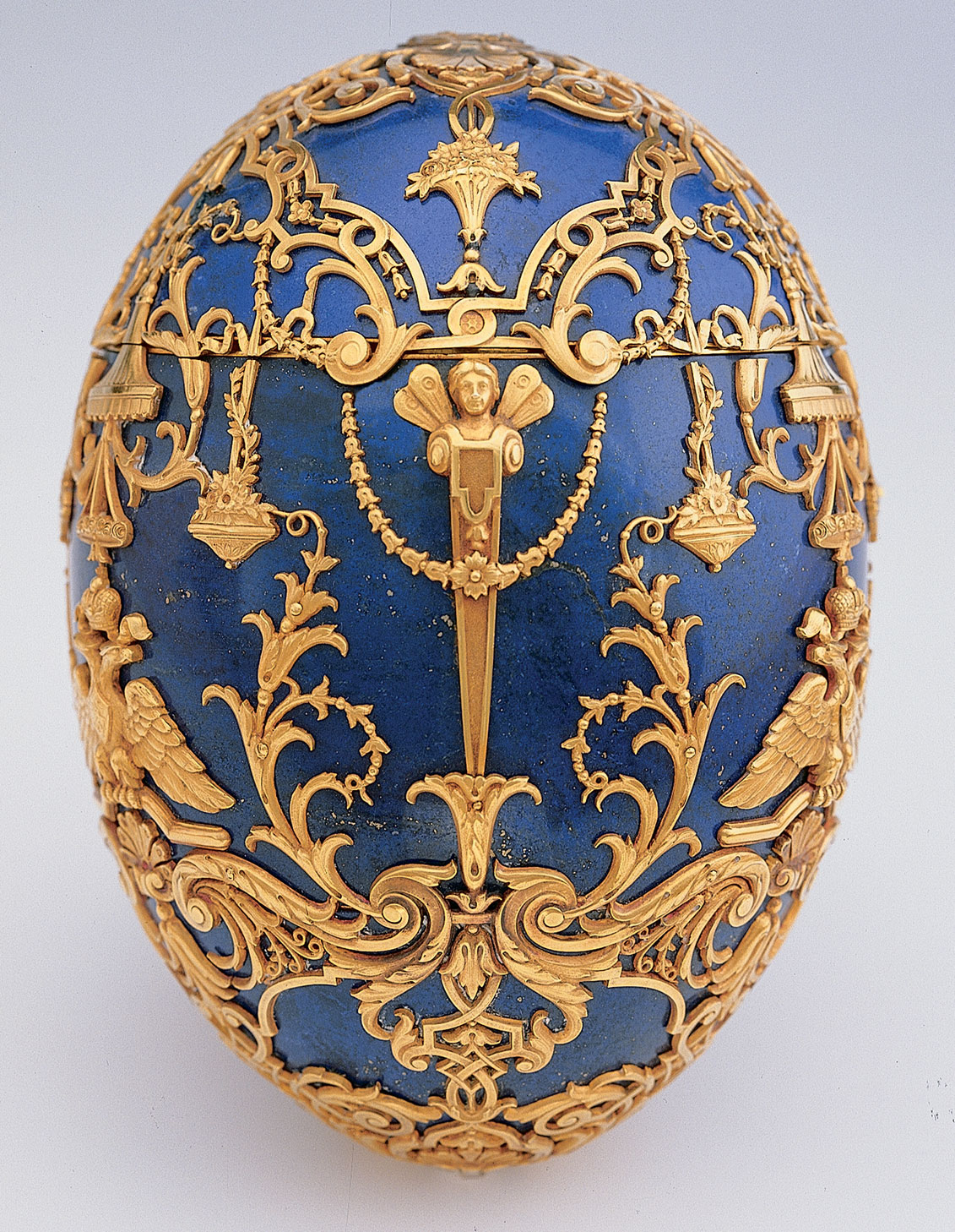 Detail of one of the Virginia Museum of Fine Arts' Faberge Eggs.  Credit: VMFA.