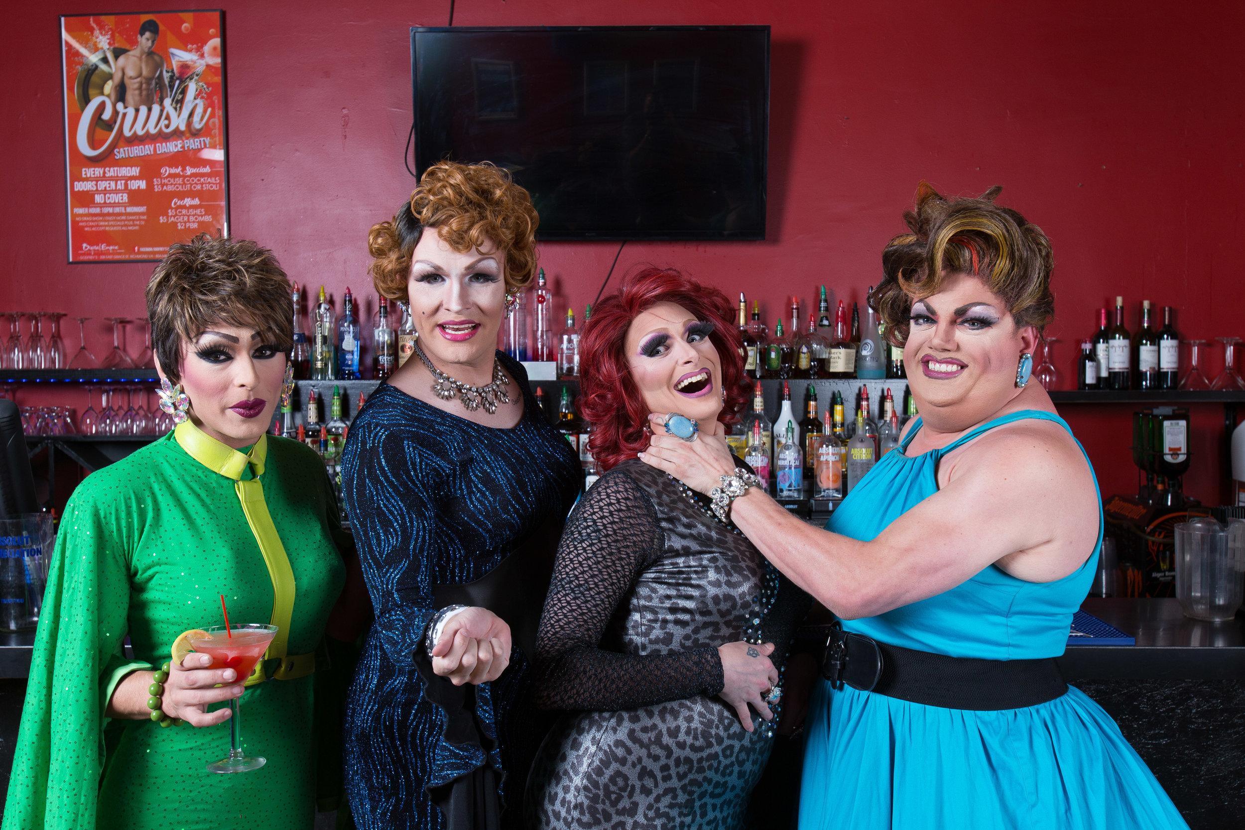 From Left to Right: Michelle Livigne CuzimEdgy, Reann Ballslee, Arianna Carrington, and Natasha Carrington