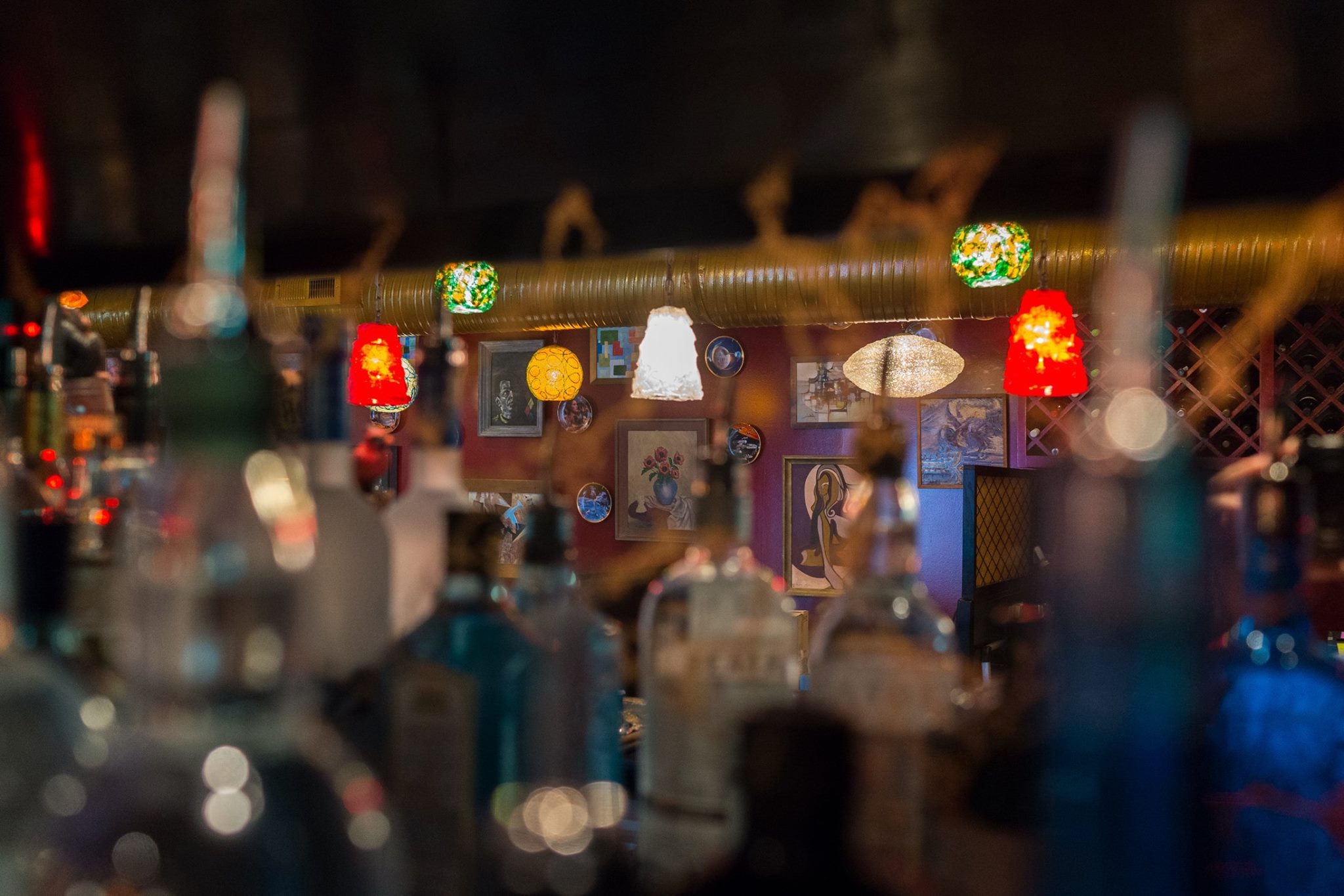 L'Opossum's interior is as eclectic as the menu.