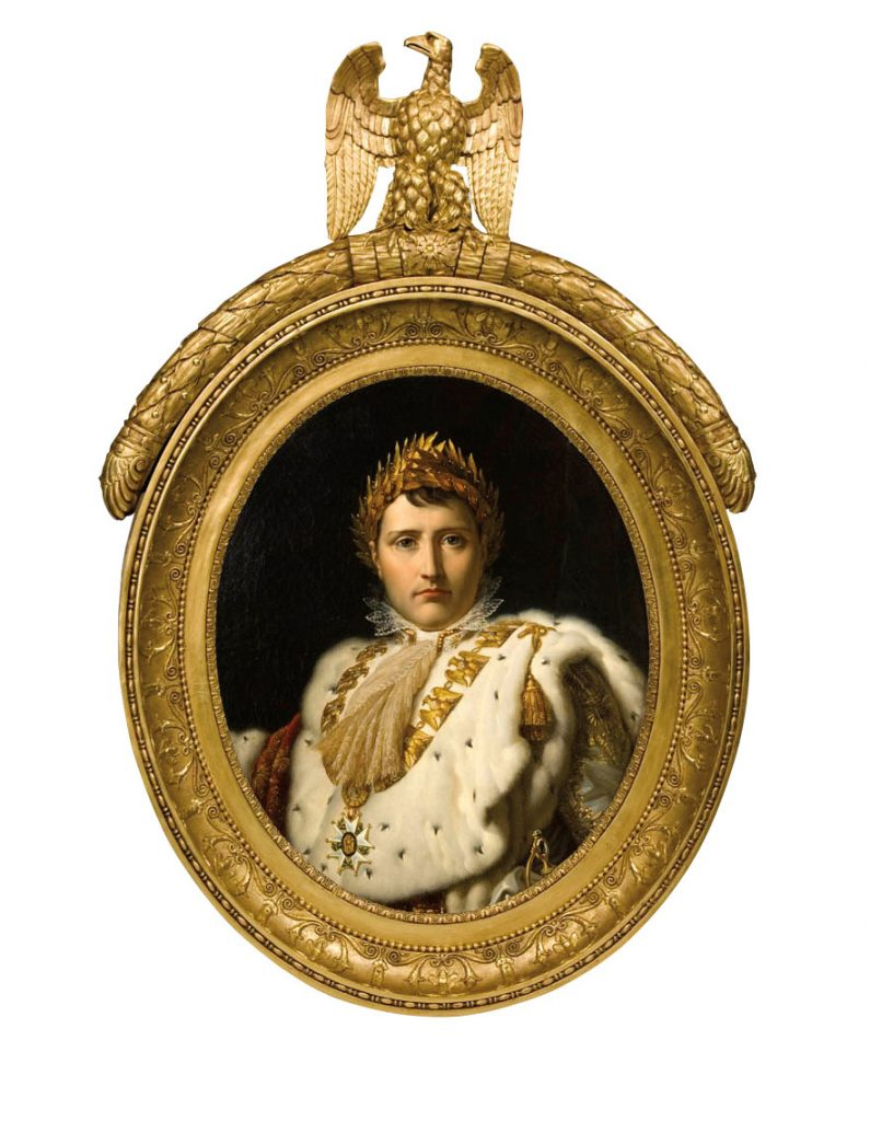 Bust-Length Portrait of Napoleon in Ceremonial Robes, ca. 1805–14, Workshop of Baron François‐Pascal‐Simon Gérard, oil on canvas. Montreal Museum of Fine Arts, Ben Weider Collection. Photo MMFA, Christine Guest
