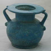 Recently conserved Romano-Egyptian pot - Manchester Museum (The University of Manchester). Image by Irit Narkiss