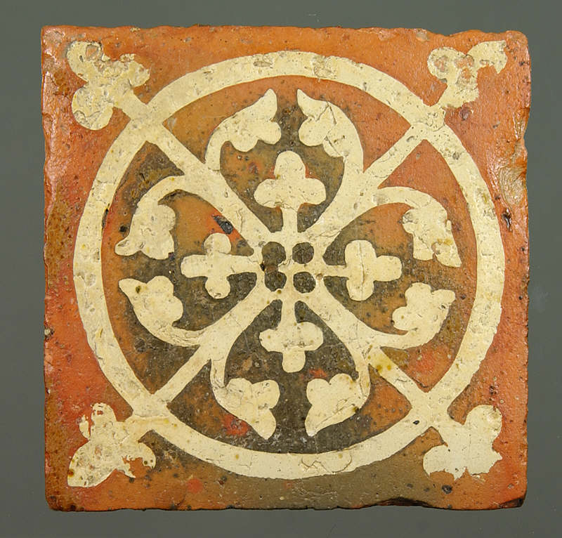 Inlay tile from Tintern Abbey, late 13C to early 14C.       Normal   0       false   false   false                      MicrosoftInternetExplorer4        ©National Museums & Galleries of Wales
