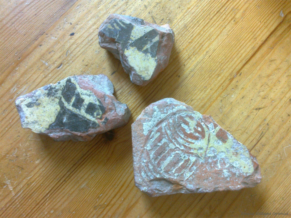 Fragments of Medieval Inlay Tiles