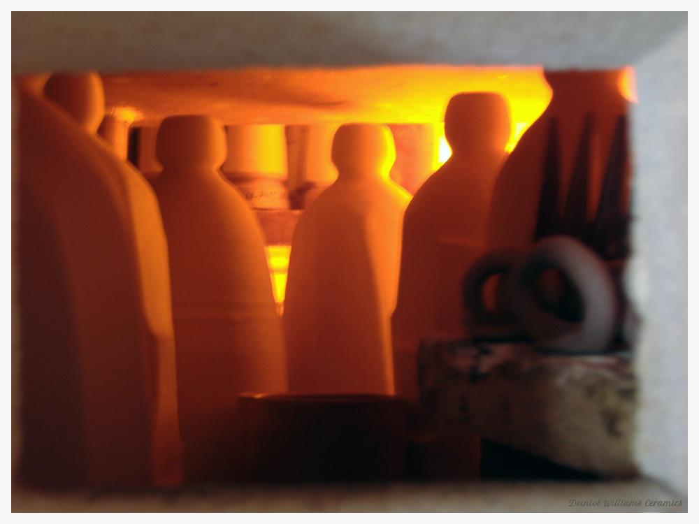 View into the wood-firing kiln