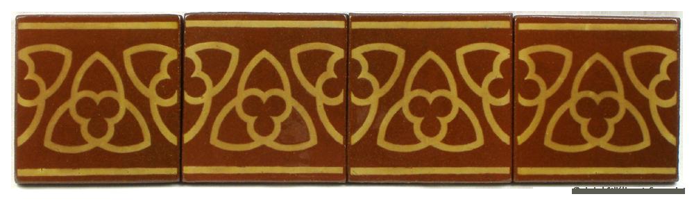 Trefoil border pattern. An original design by Deiniol Williams