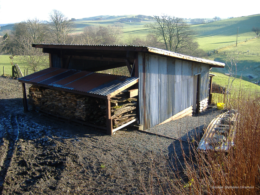 Woodkiln shelter and wood store completed