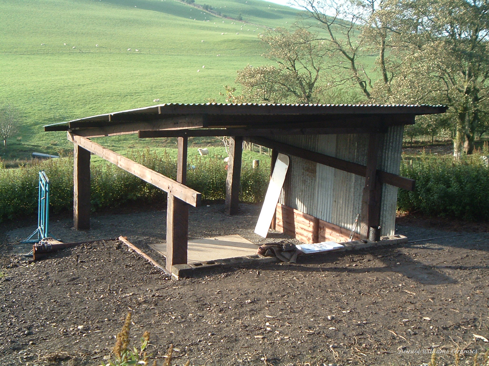 Woodkiln shelter roof completed