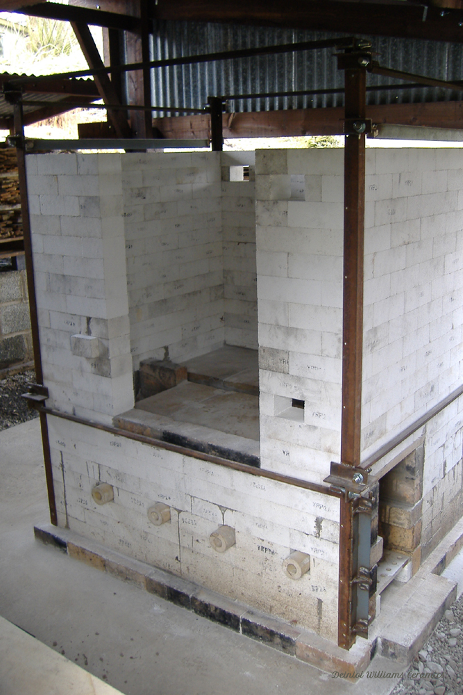 Woodkiln chamber construction ready for the arch