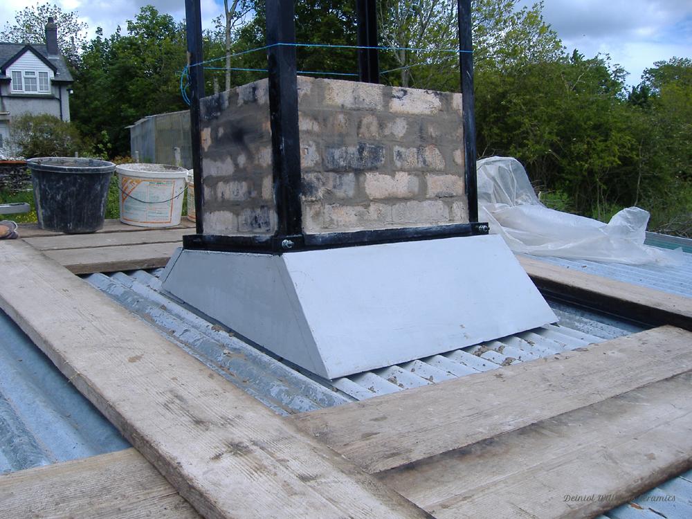 Woodkiln chimney hood construction