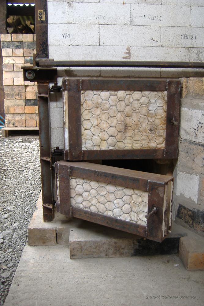 Woodkiln firebox doors