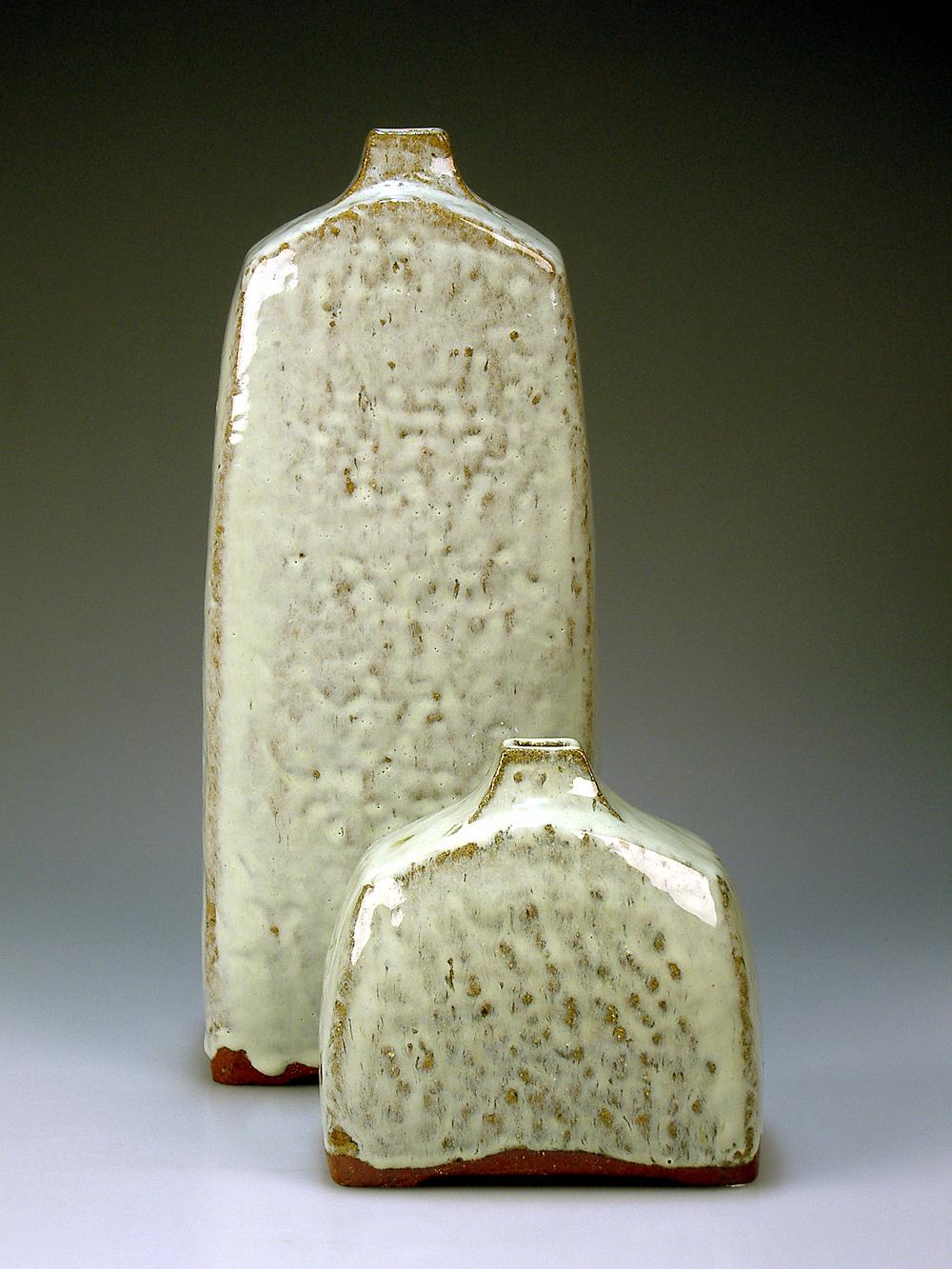 Two Hand-built Bottles