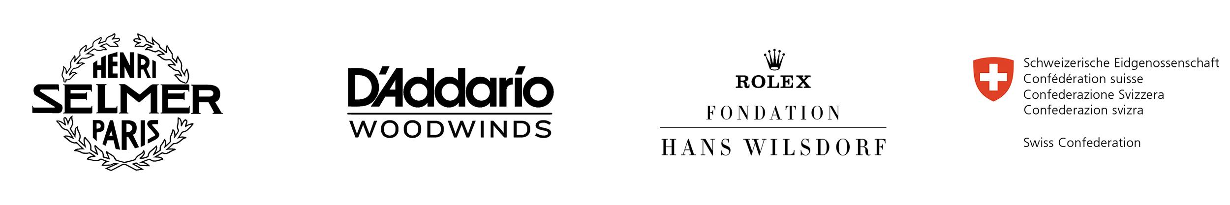 Sponsors+Partners: Henri Selmer Paris Clarinets, D'Addario Woodwinds, Rolex Fondation, Swiss Confederation