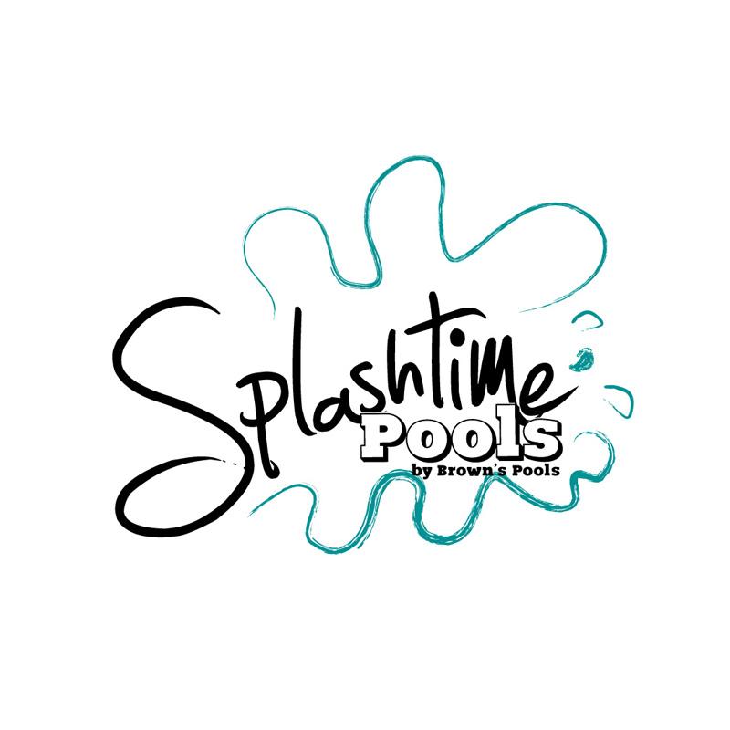 Logo design for Splashtime Pools brand for Browns Pools & Spas in Douglasville, Ga.