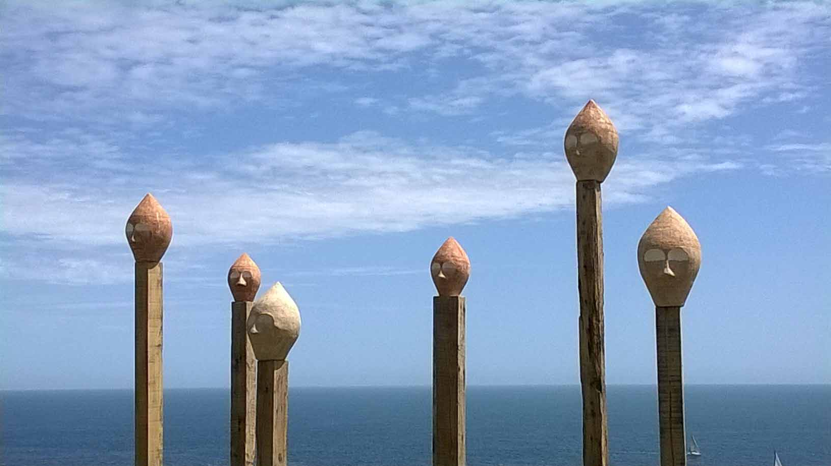 'On The Edge' ceramic, installation at Durlston Castle. Danish longships were wrecked in a storm in Swanage Bay…