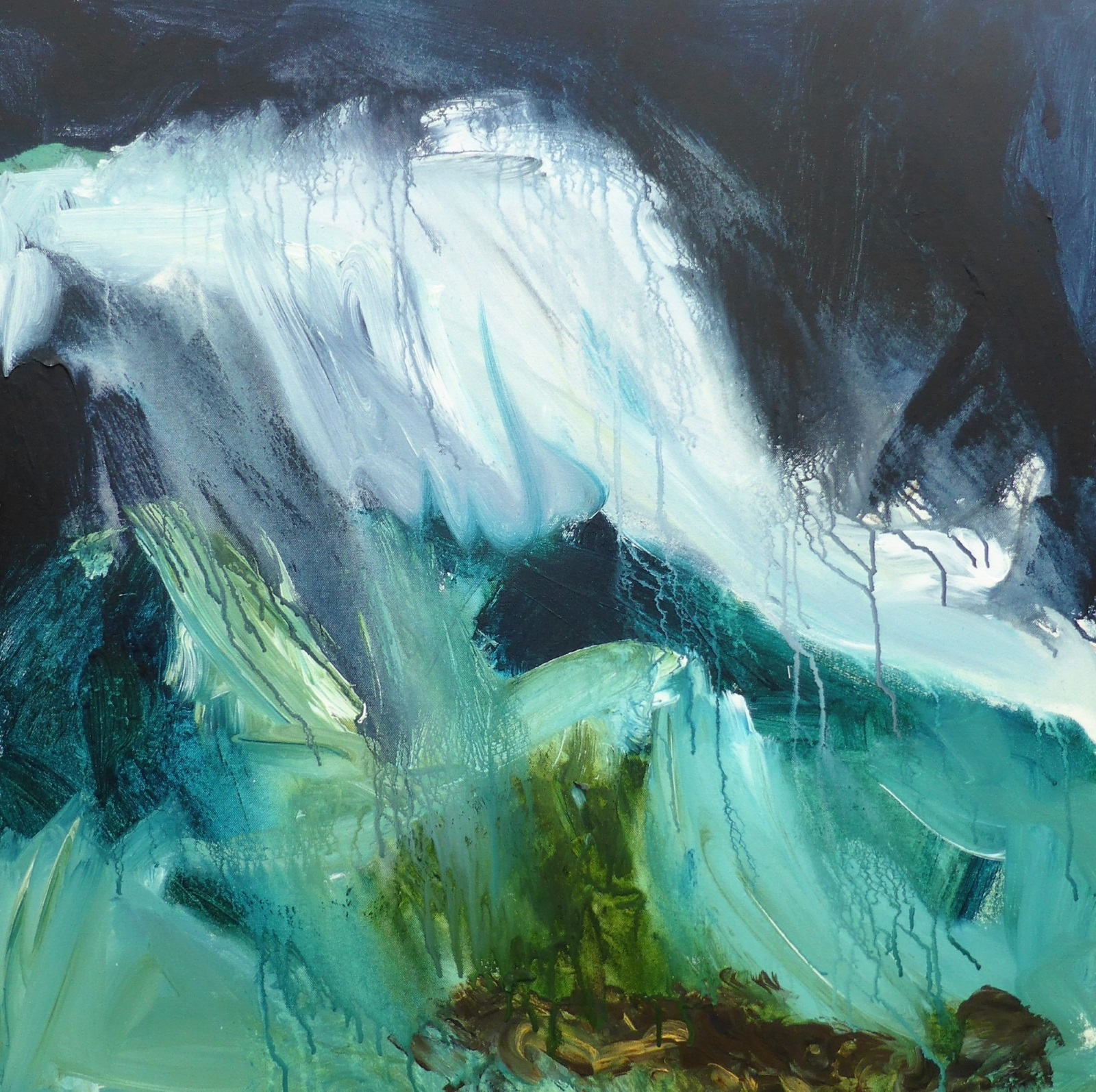 Breaking Wave I, mixed media on canvas, 80 x 80cm