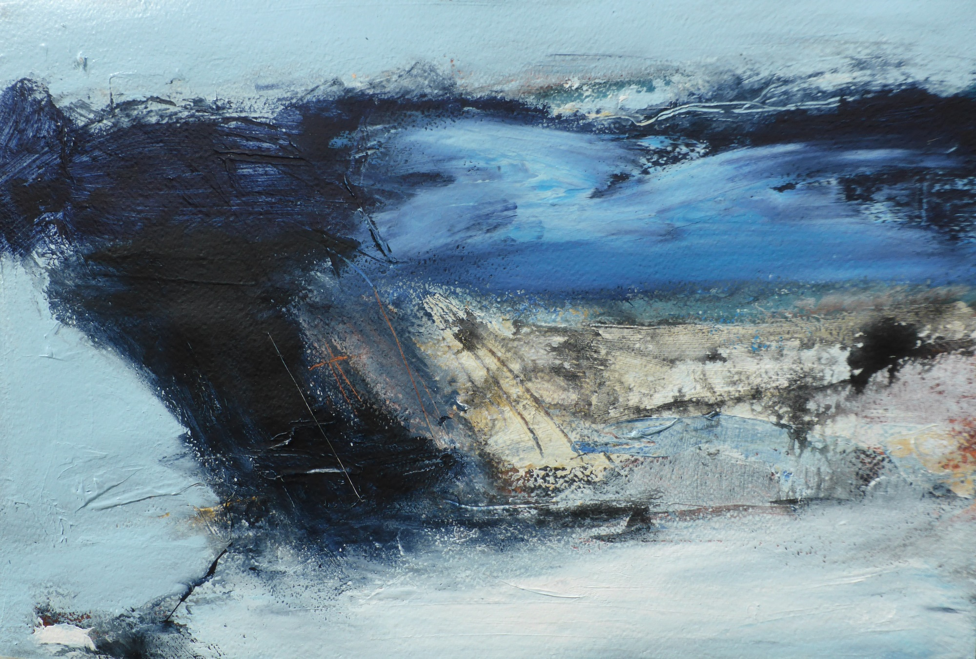 Porthledden - Cape Cornwall, mixed media on paper, 50 x 65cm