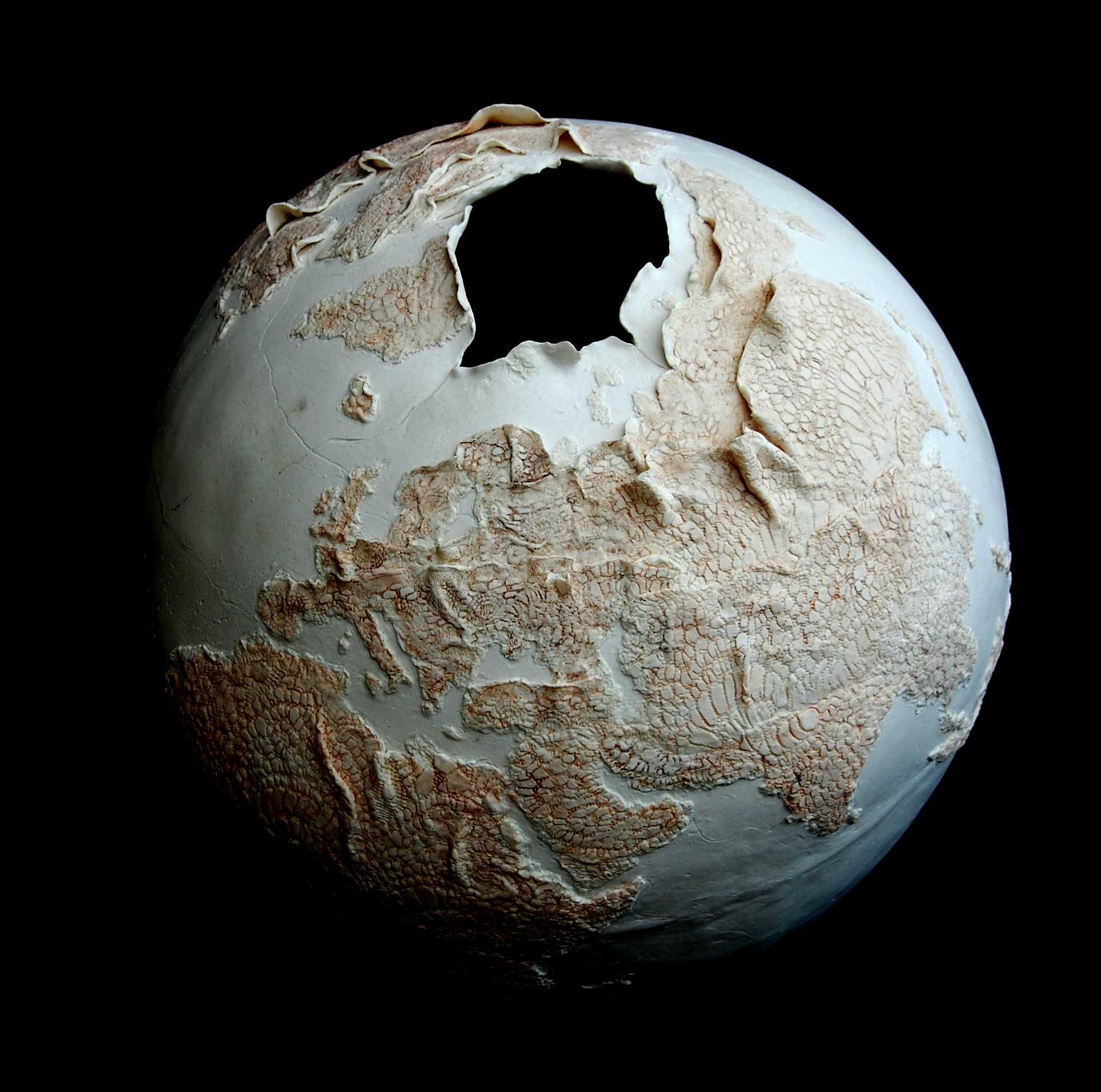 Fragile World II, porcelain
