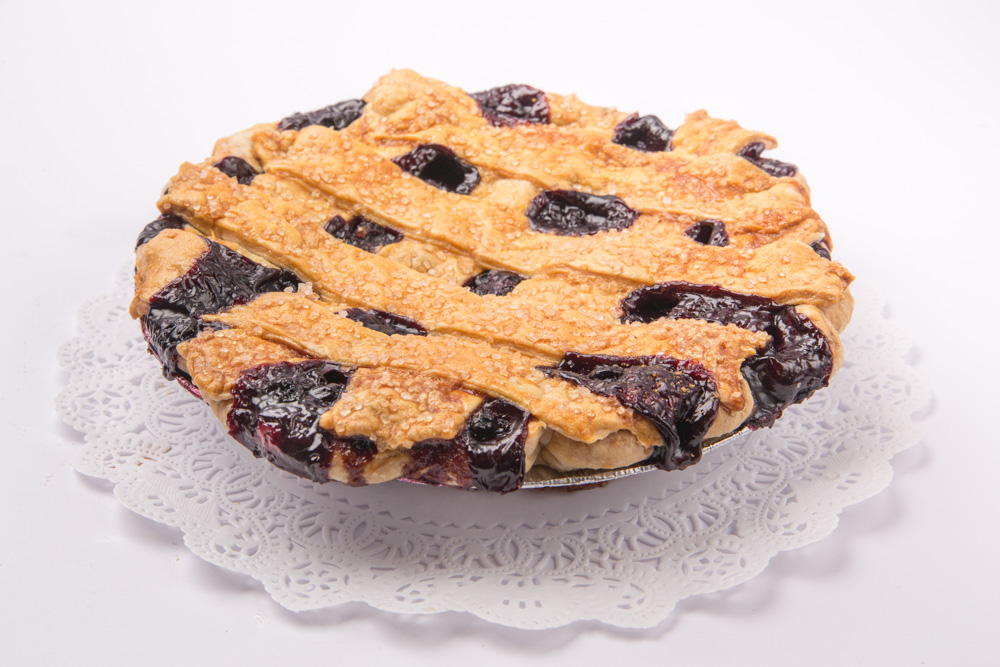 Fruit Pies   Lattice-style fruit pies are available in Cherry Rhubarb; Strawberry Rhubarb; Apple Rhubarb; Strawberry Cherry; Raspberry; and Blueberry