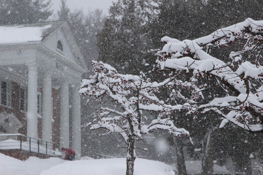 IMS Retreat Center in winter. Photo by Dawn Robertson. Courtesy of  IMS .