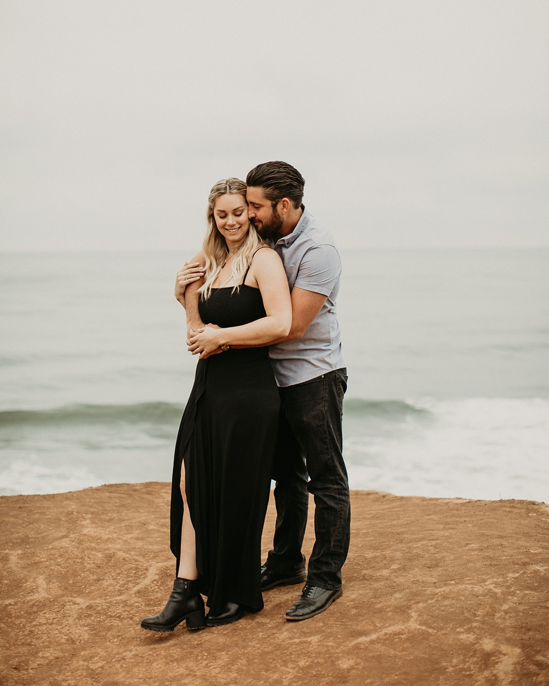 Amy + Andrew Sunset Cliffs San Diego Session Ellie Cole-38.jpg