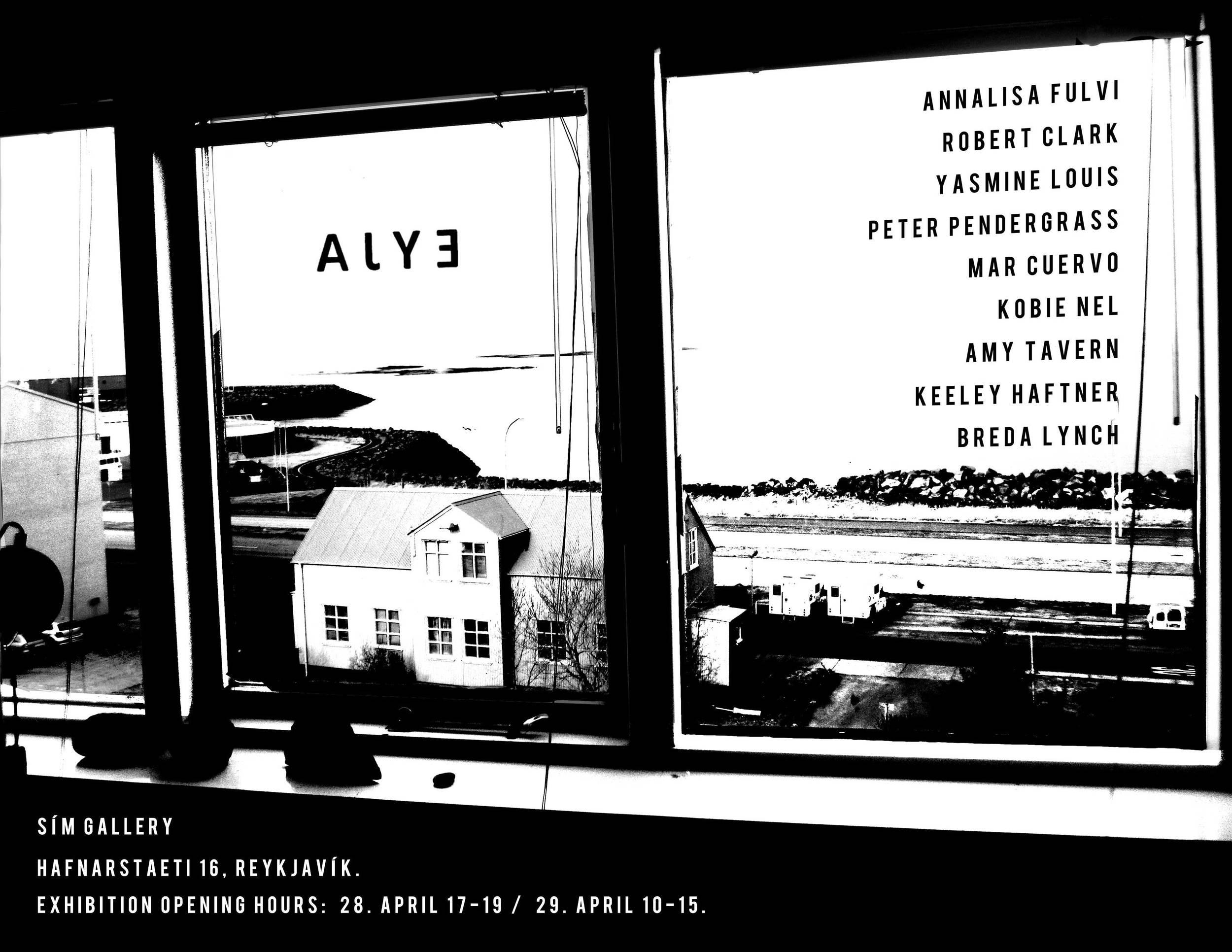 Poster for exhibition in Reykjavik