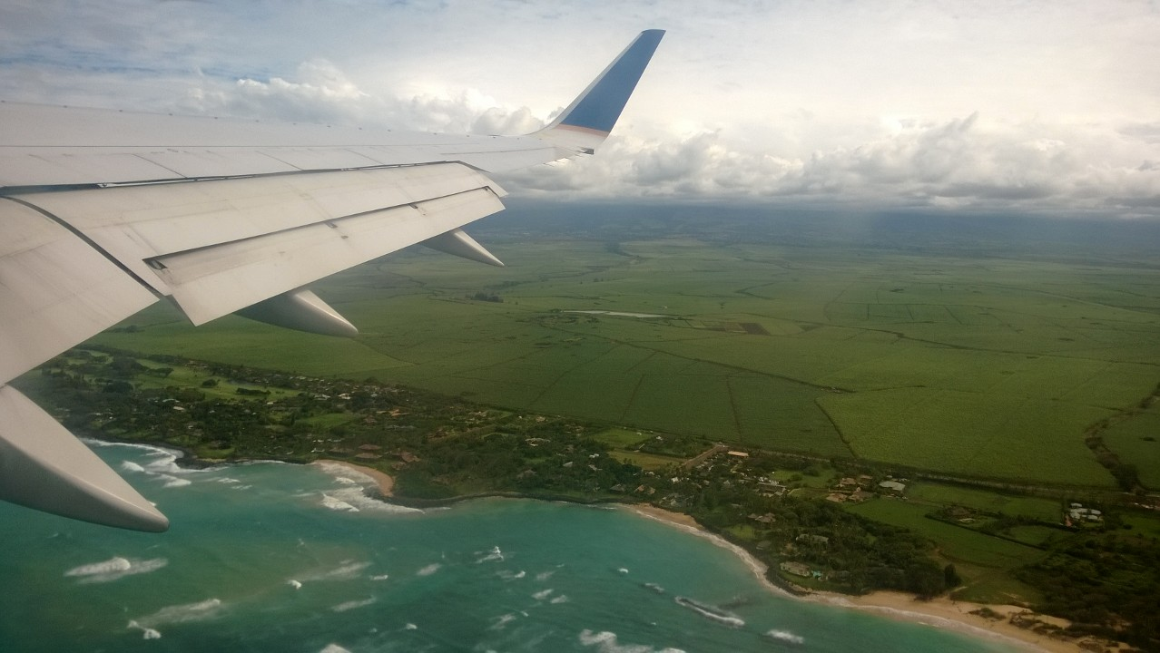 I got to fly United to Maui from New York...