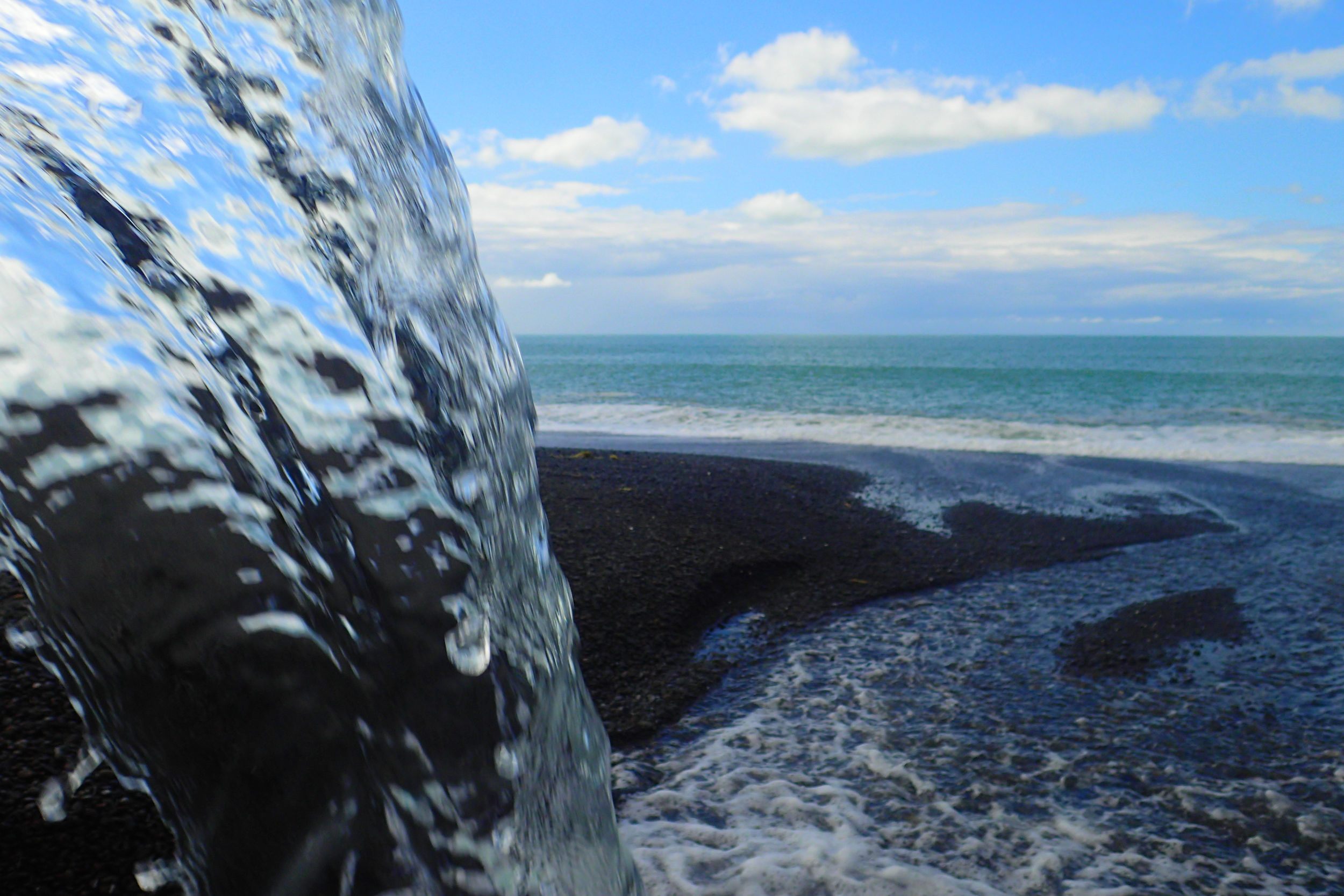 Water run-off into Hawke's Bay in New Zealand