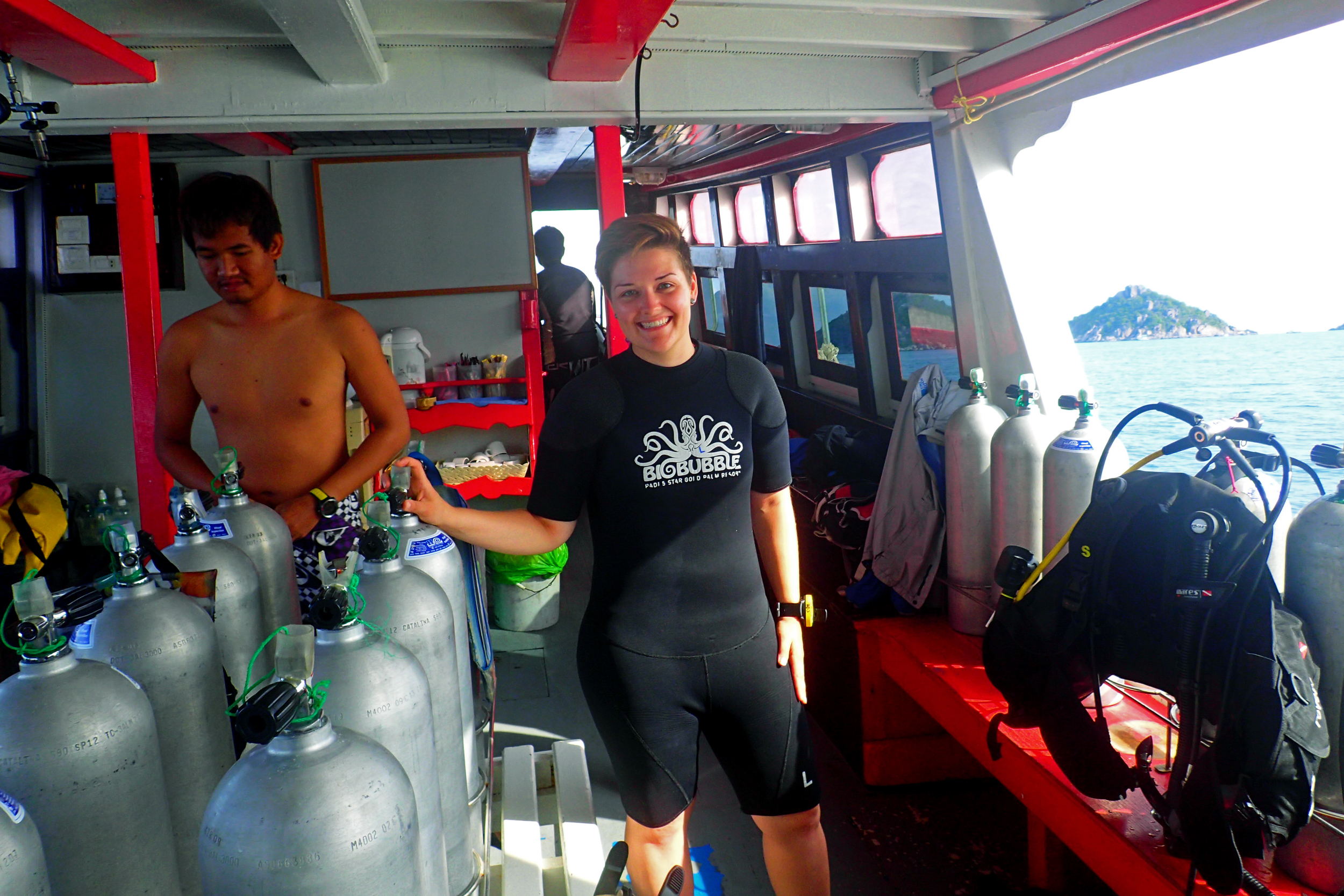 Learning how to SCUBA dive in  Ko Tao, Thailand