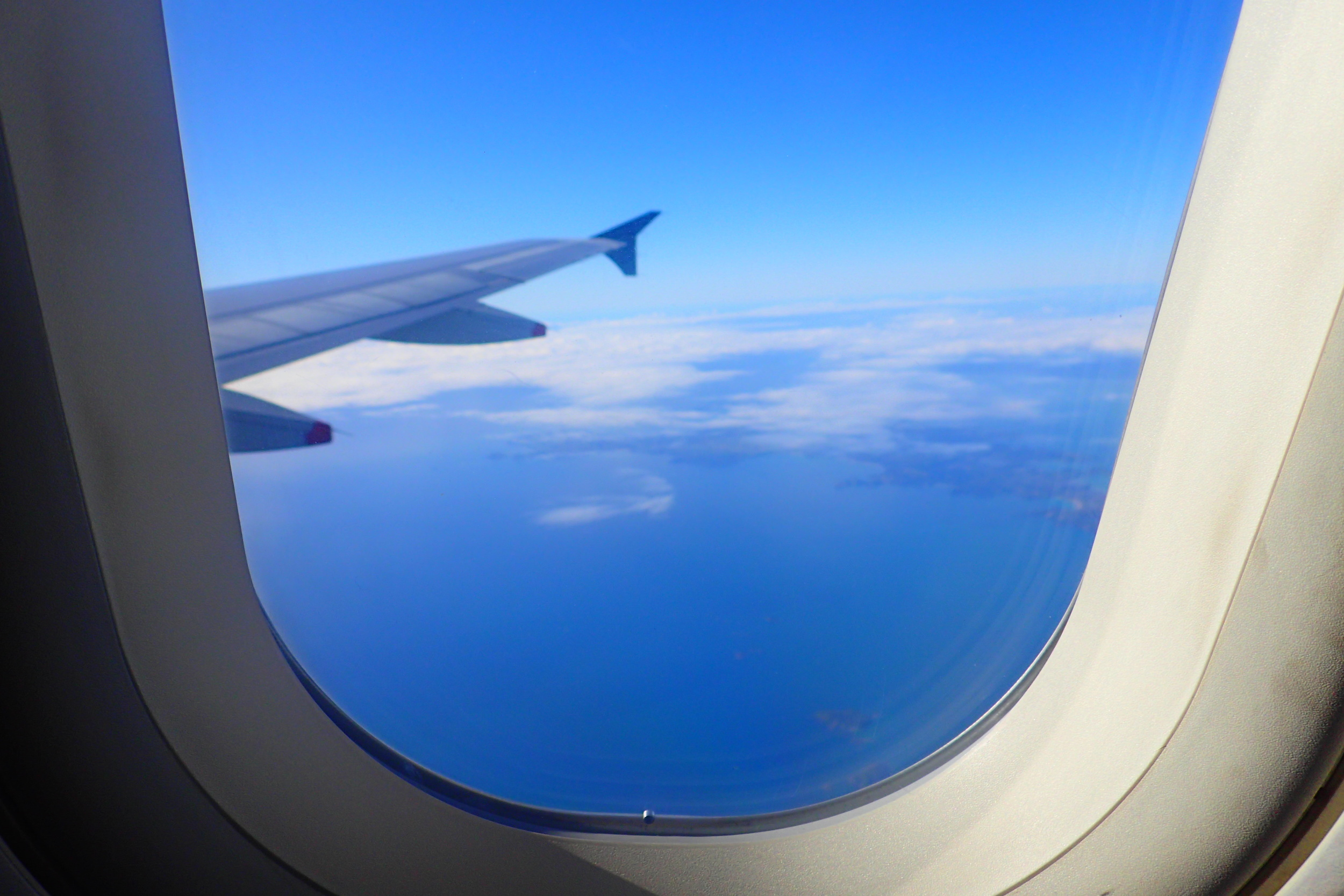 A view from the window on my flight over New Zealand