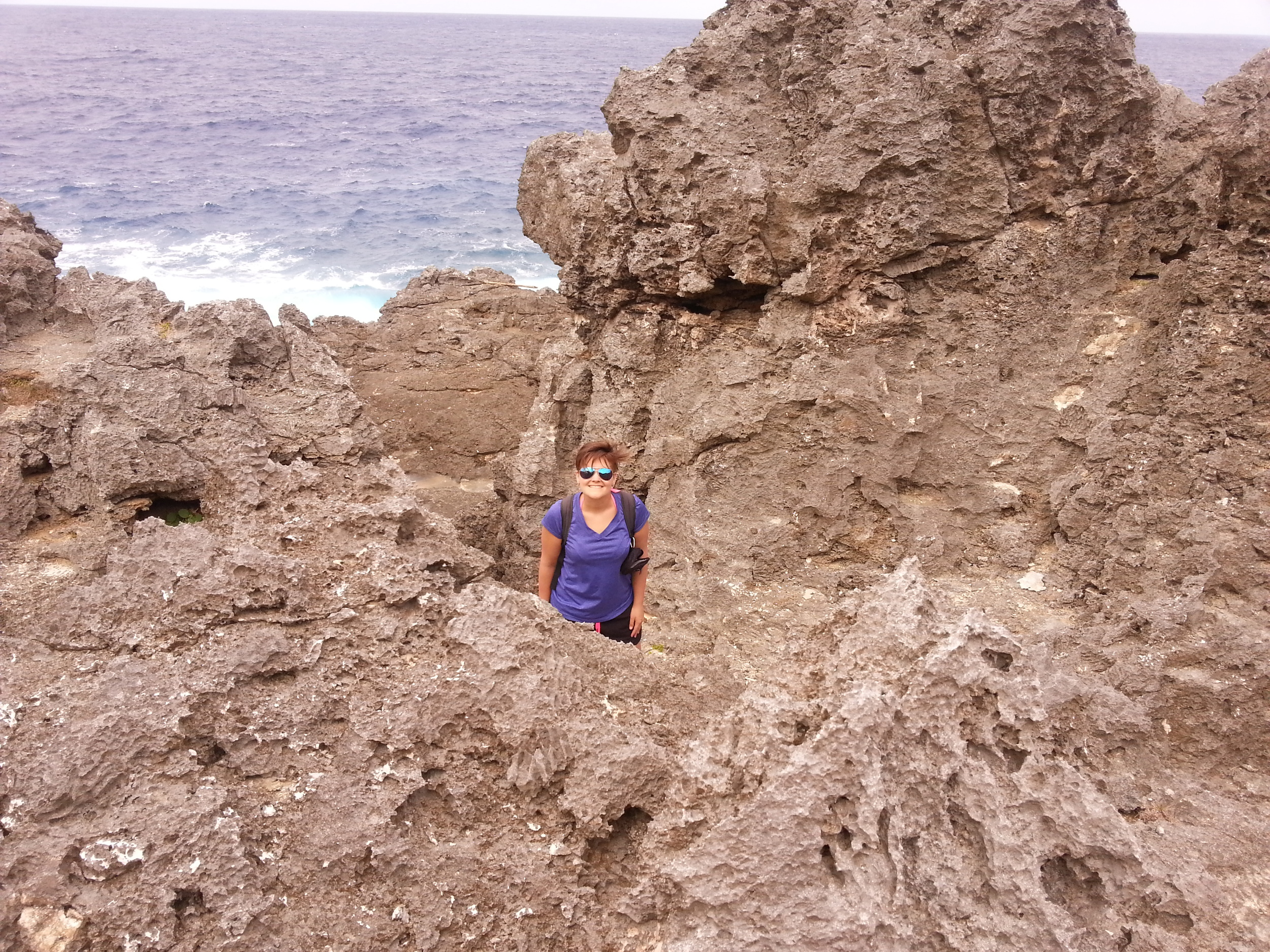 In the treacherous Black Pinnicales on the east coast of Niue - Photo by Jono