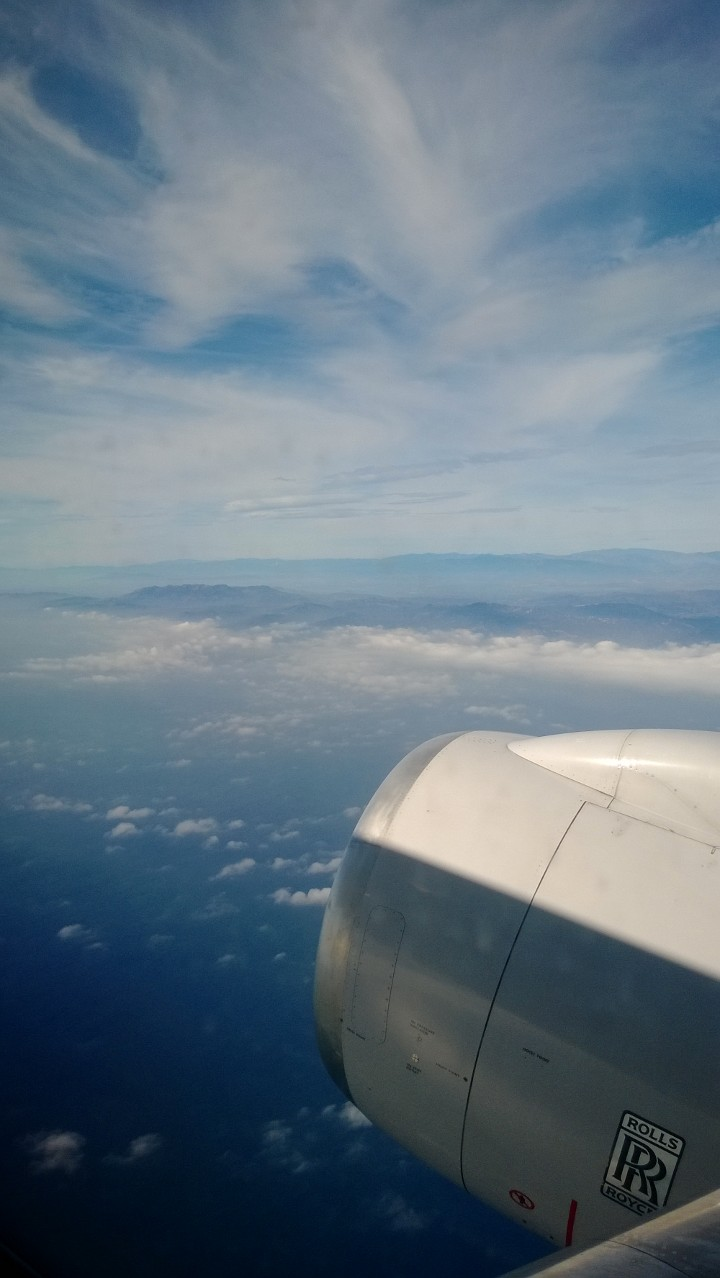 The first leg of my trip - I took a round-trip flight out to Maui with a layover at LAX for only 40,000 United Airlines points!