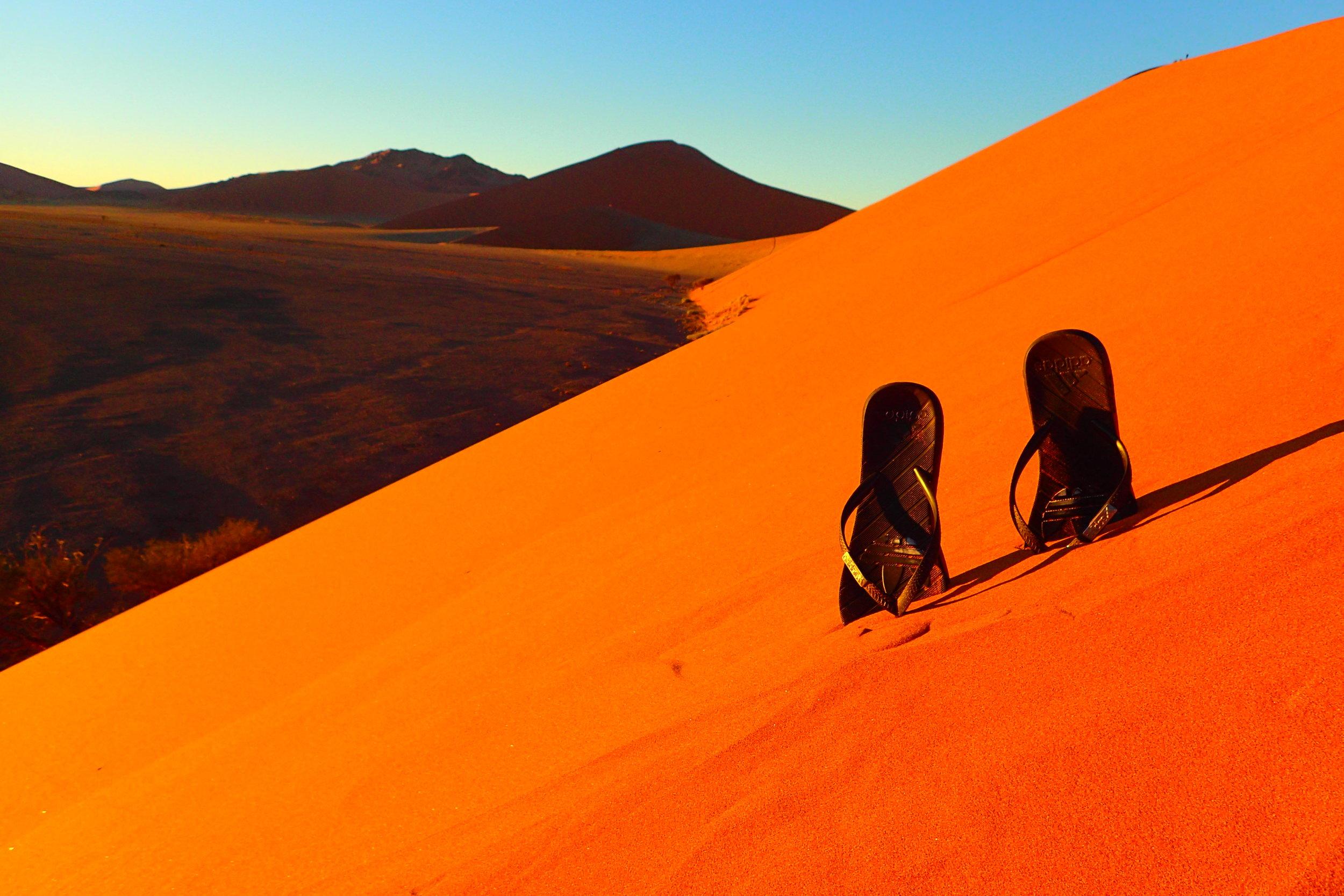 Climbing Dune 45 At Sunrise In The Namib Desert Deviating