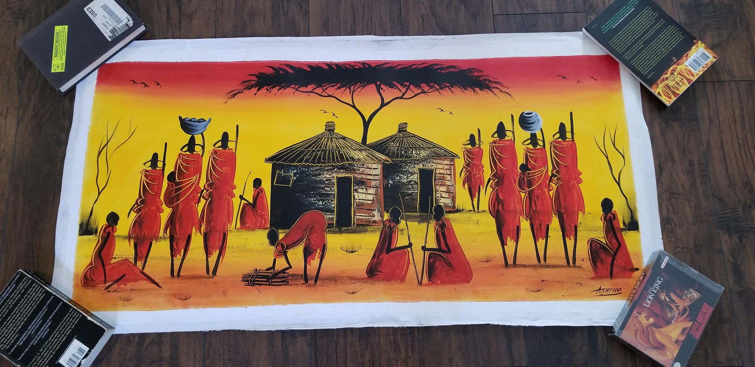 Massai painting (by Asanoo)