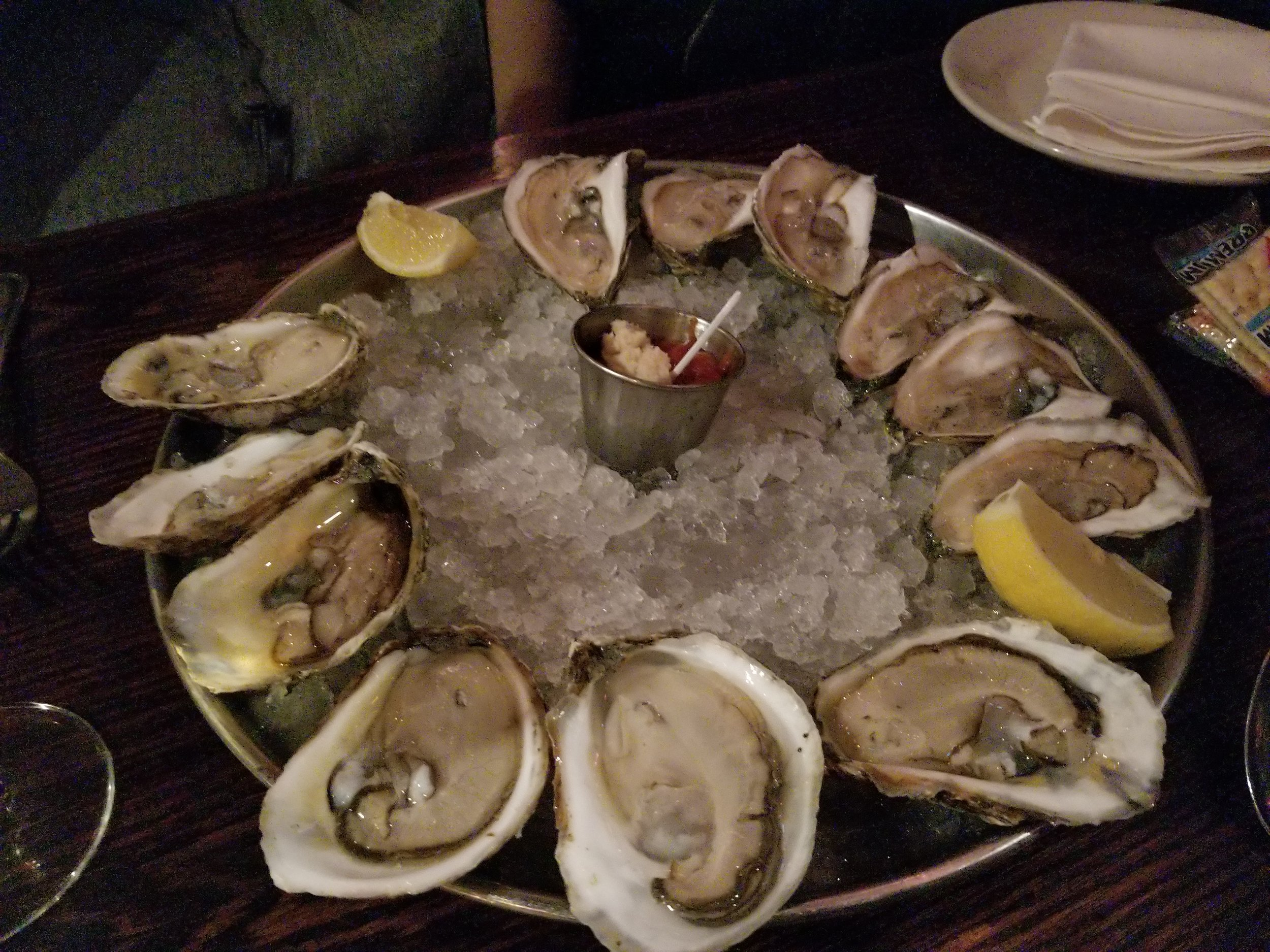Oyster sampler from my trip to in Boston, MA in 2018