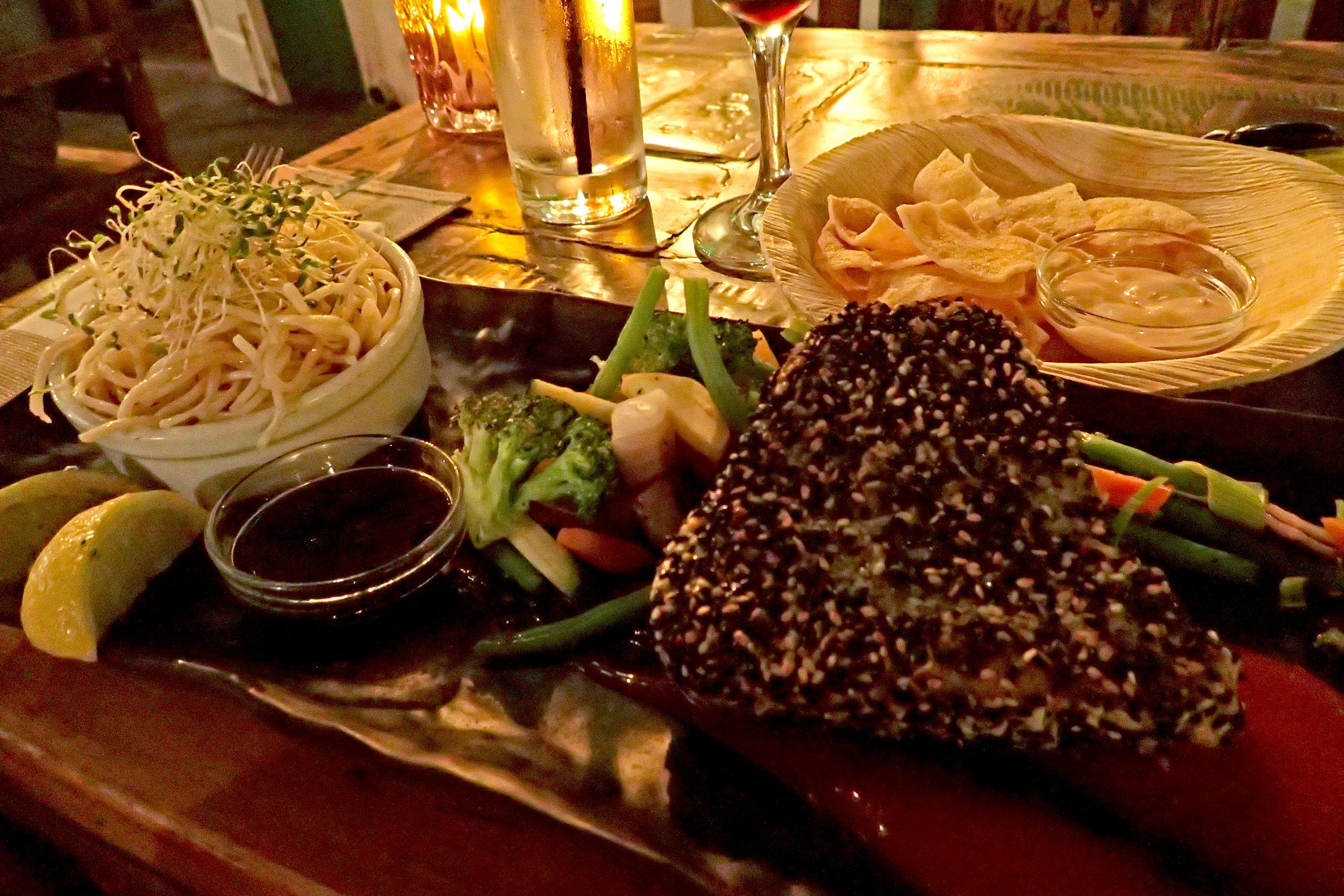 Dinner at Ginger's in Willemstad