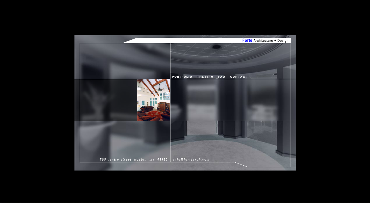 Screen shot of the website for Forte Architecture + Design (FA+D)