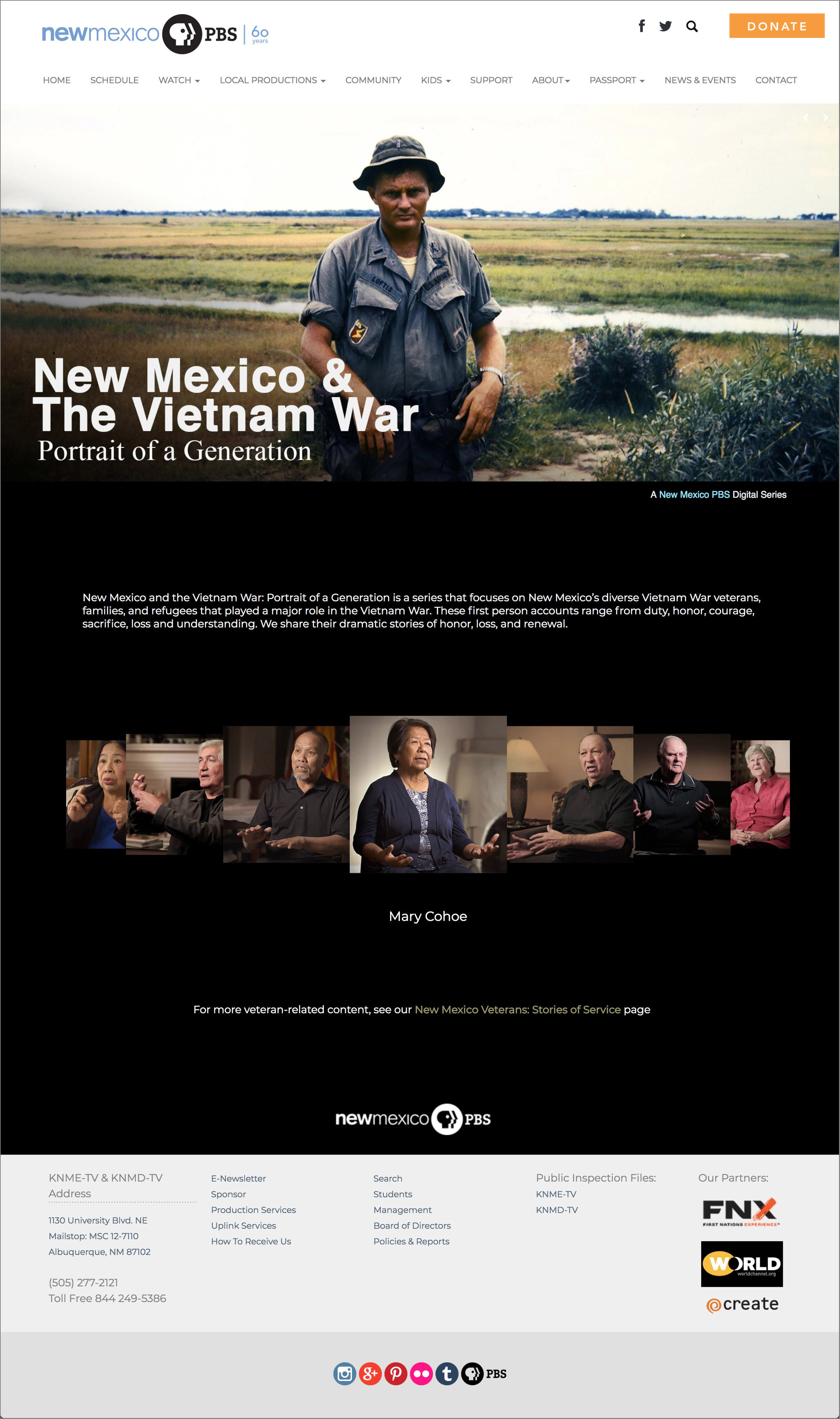 New Mexico & The Vietnam War: Portrait of a Generation    Tools used:    WordPress Adobe Photoshop