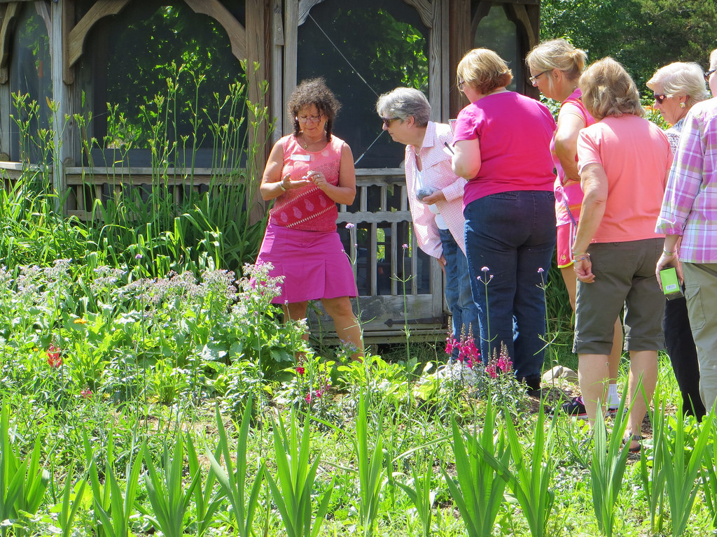 Touring the gardens at Hollengold Farm