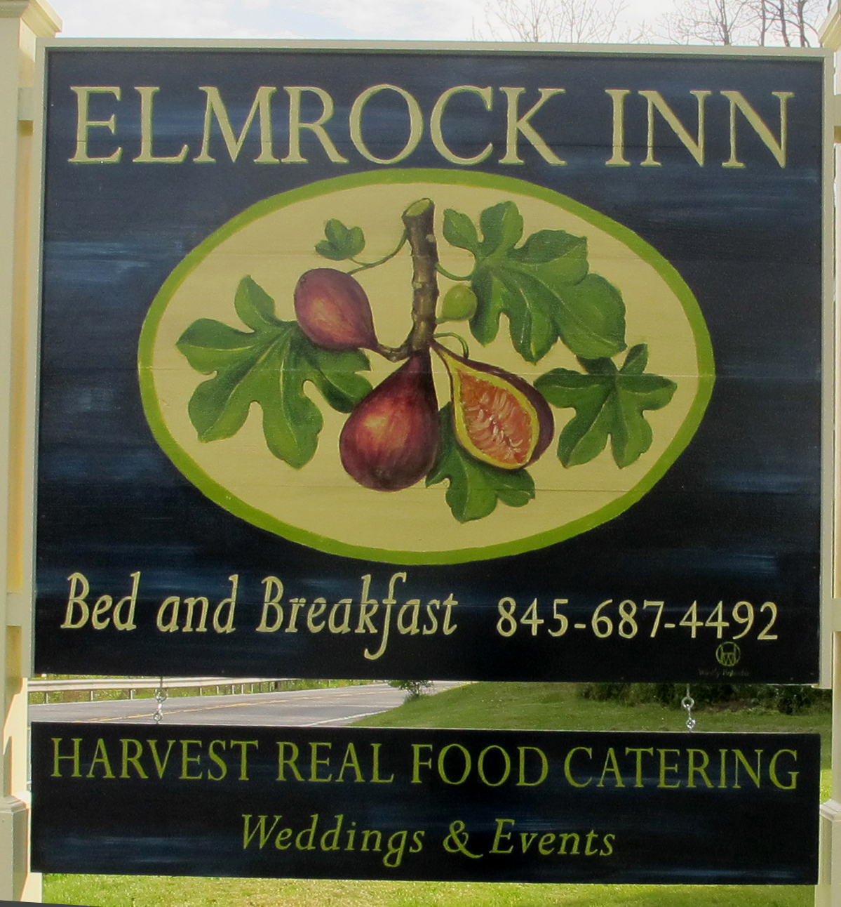 Hand Painted Sign for Elmrock Inn